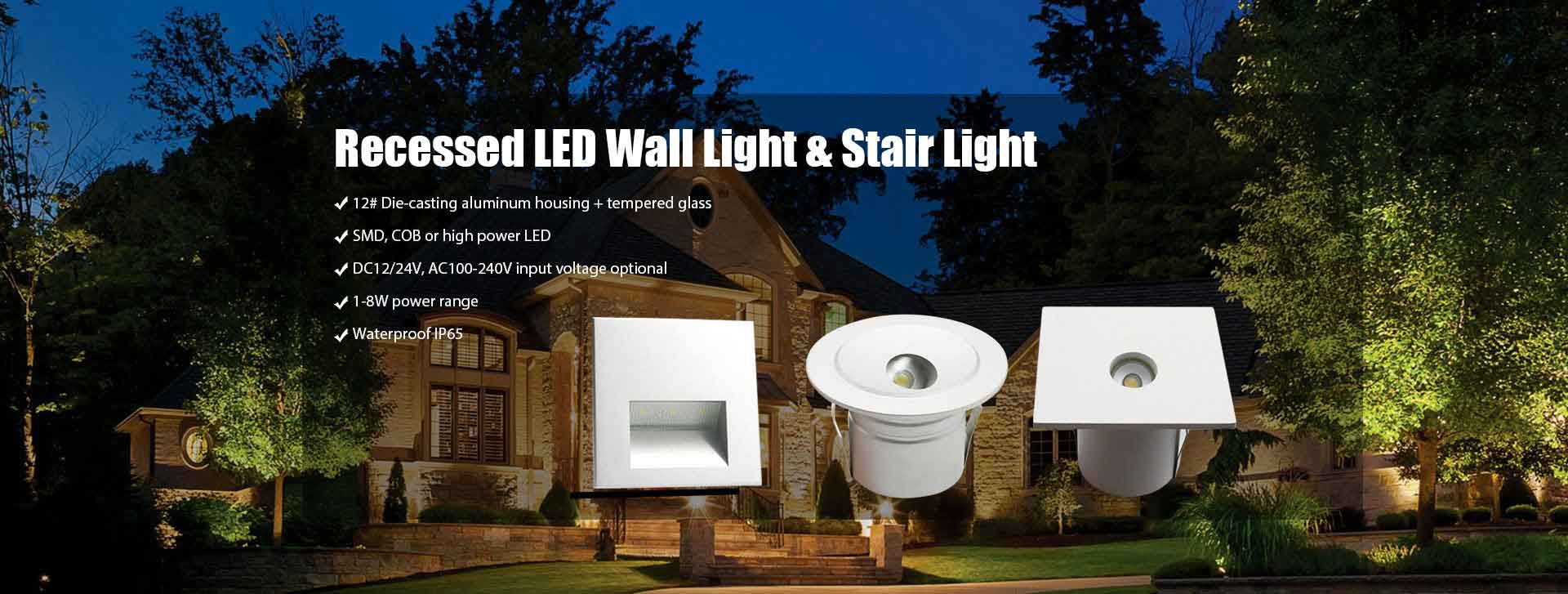 LED Recessed Wall Light & Stair Light