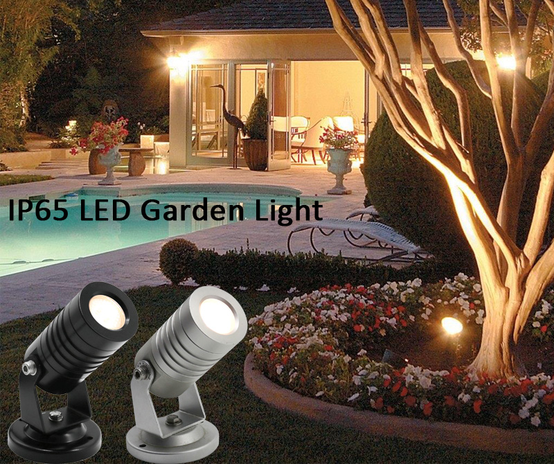 Black 2700k LED Landscape Garden Spotlight