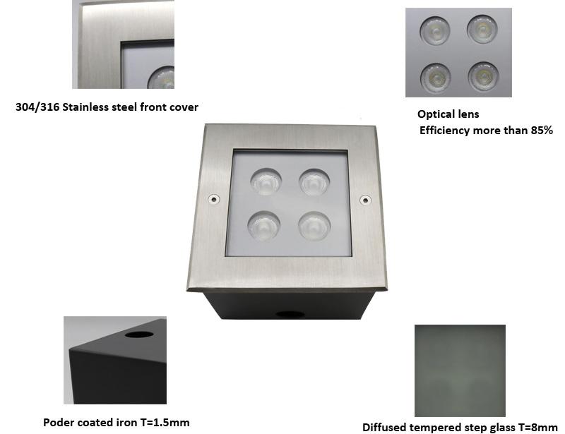 Square Recessed LED Inground Light