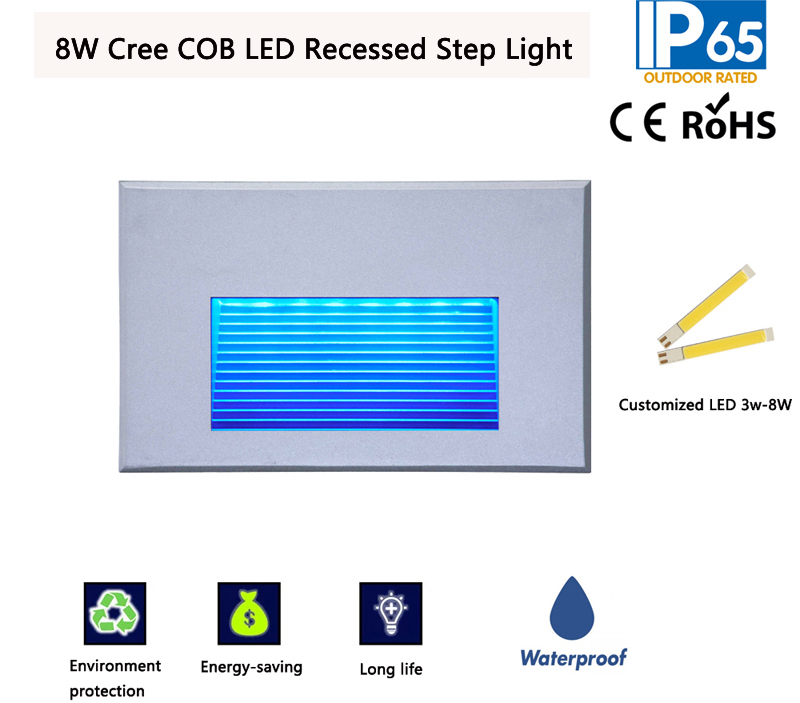 8W Cree COB LED Recessed Step Light,LED Recessed Wall Light