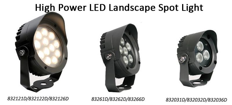 12W/36W IP68 Waterproof Outdoor LED Garden Lights RGB 24DC Projector Lamp