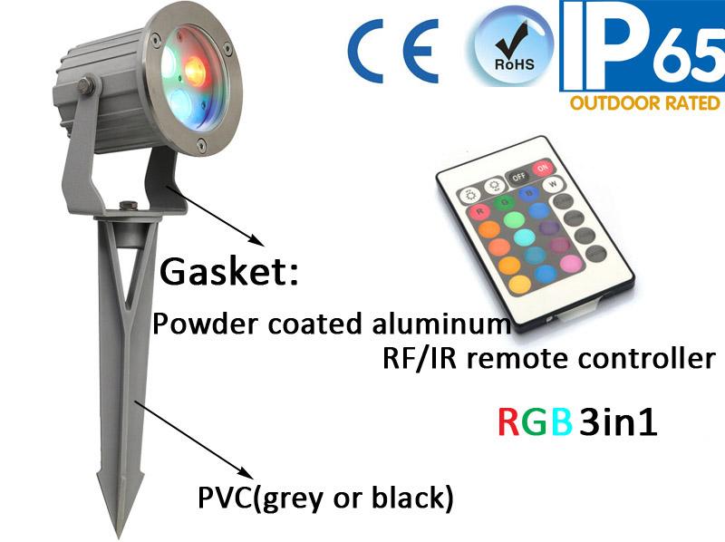 IP65 SUS 304 Front Cover Outdoor Garden Spike Light
