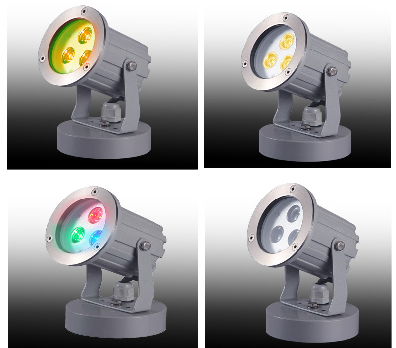 Outdoor LED Garden Lights 3W / 9W RGB Landscape Light