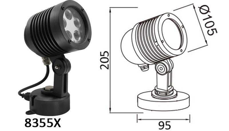 15W LED Garden Spot Light Mounting Base