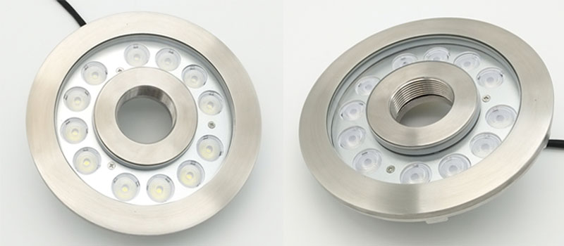 Underwater LED Fountain Light with Center Hole