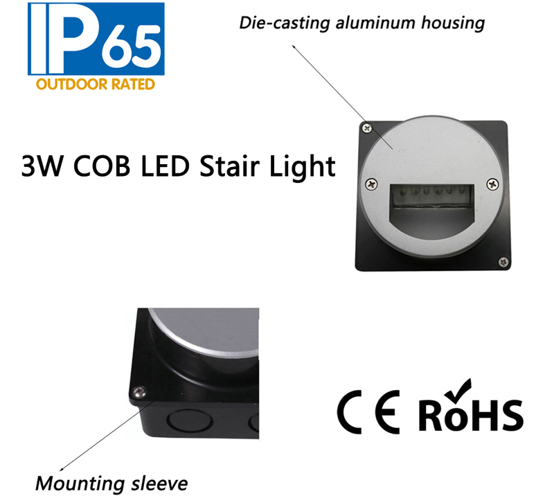 3W COB LED Stair Light,LED Step Lamp