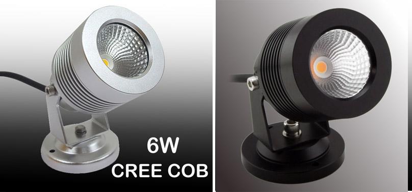 6W CREE COB LED Landscape Garden Light with Base