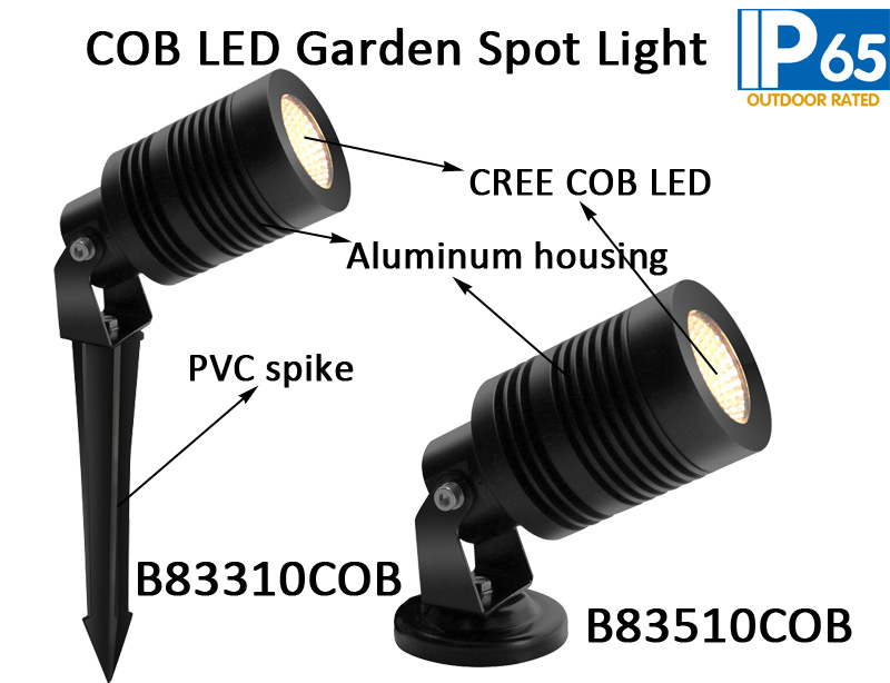 10W CREE LED Garden Spotlight With Spike