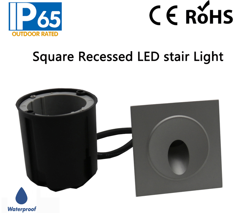 IP65 Waterproof Square Recessed LED Stair Light,LED Wall Lamp