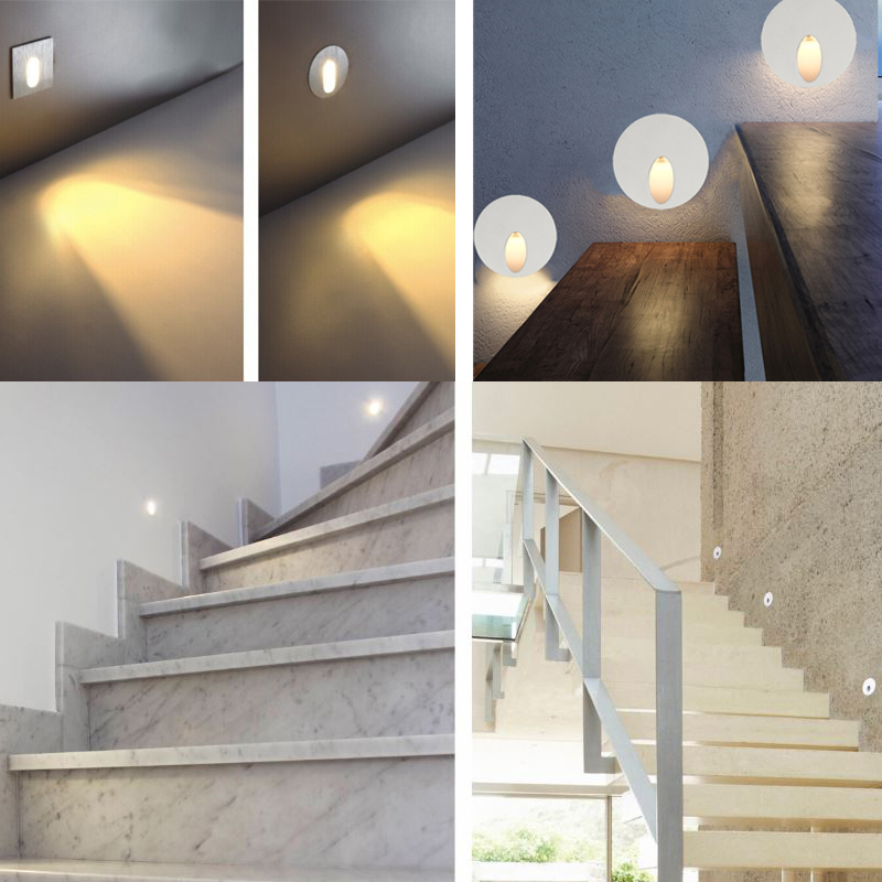 Recessed LED Step Light,Face Mounted 2W LED Stair Light