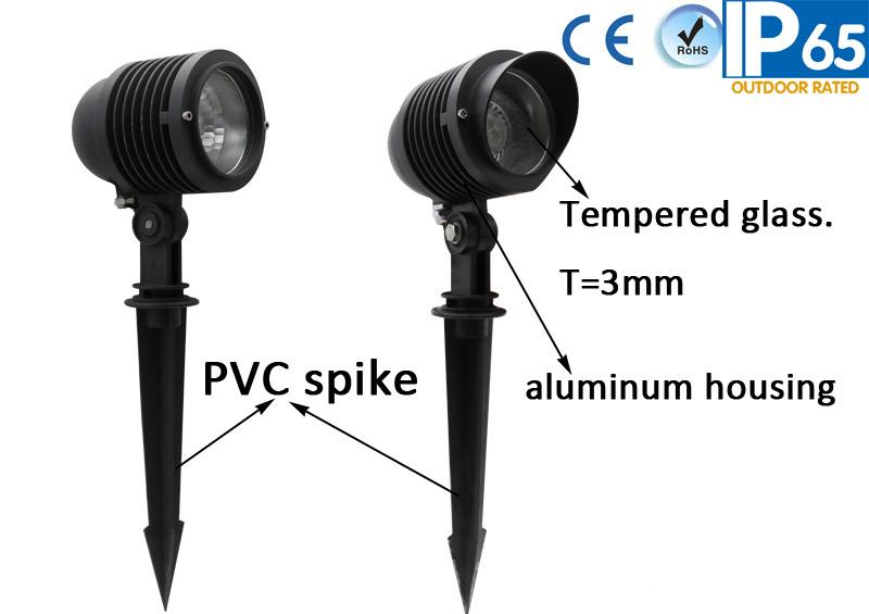 Changeable Socket Spot Light with spike