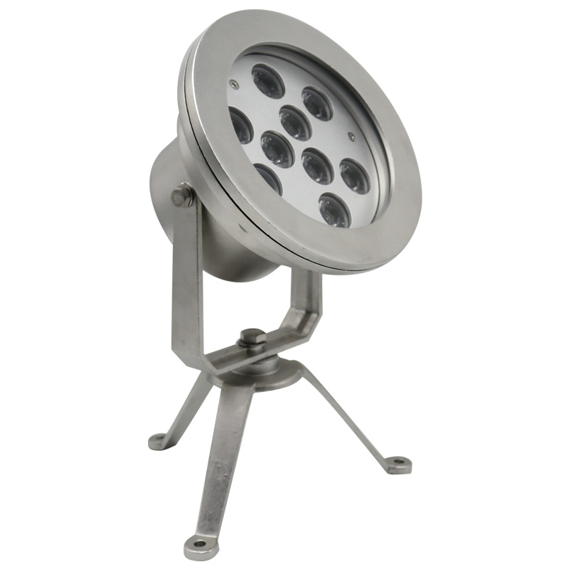 Underwater LED tripod spotlight